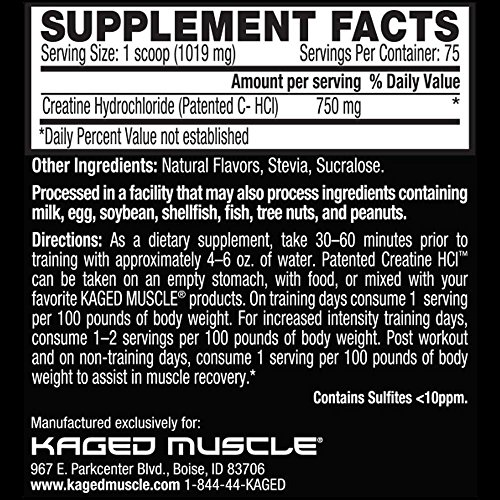 Kaged Muscle C-HCL Lemonlime, Lemon Lime, 75 Count