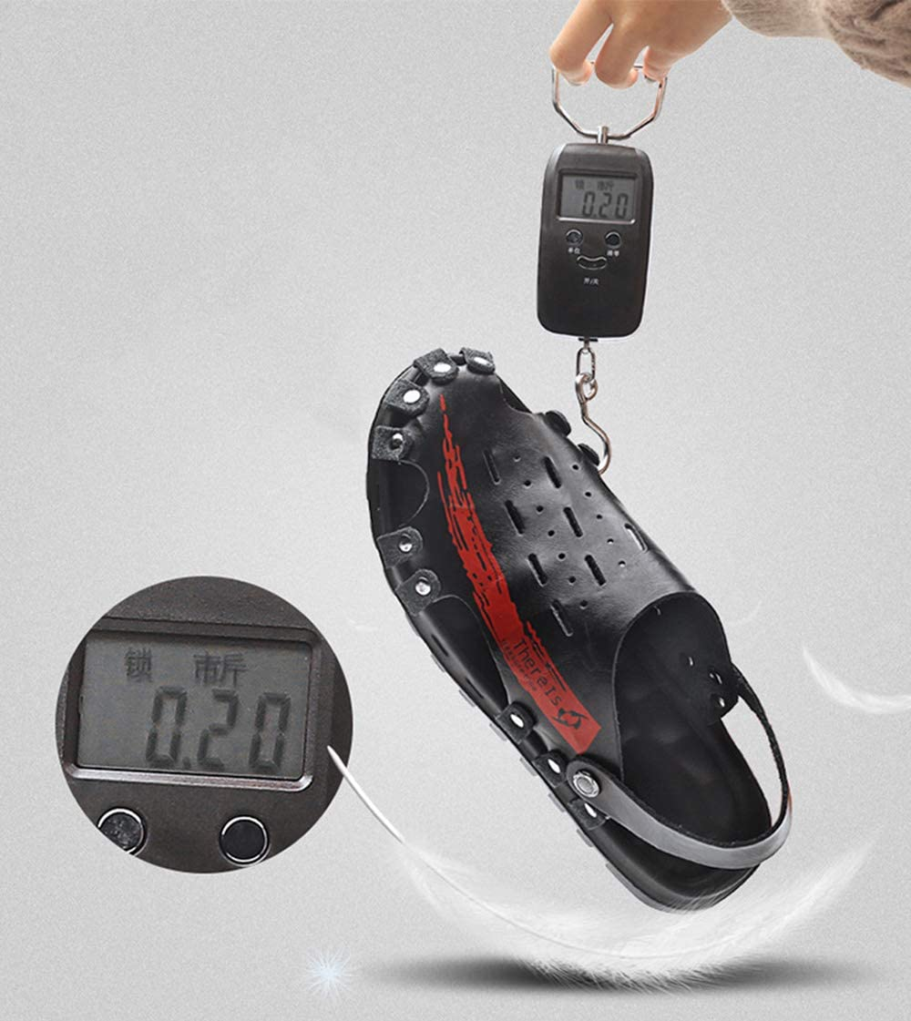 Mens Sandals Summer Closed Toe Lightweight Non-Slip Hiking Trekking Hook Loop Straps Beach Shoes Cushioned Athletic Sandals Brown