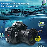 Sea frogs 130ft/40m Underwater Camera Housing Diving Camera Waterproof Case for Canon EOS 5D Mark III 5D Mark IV