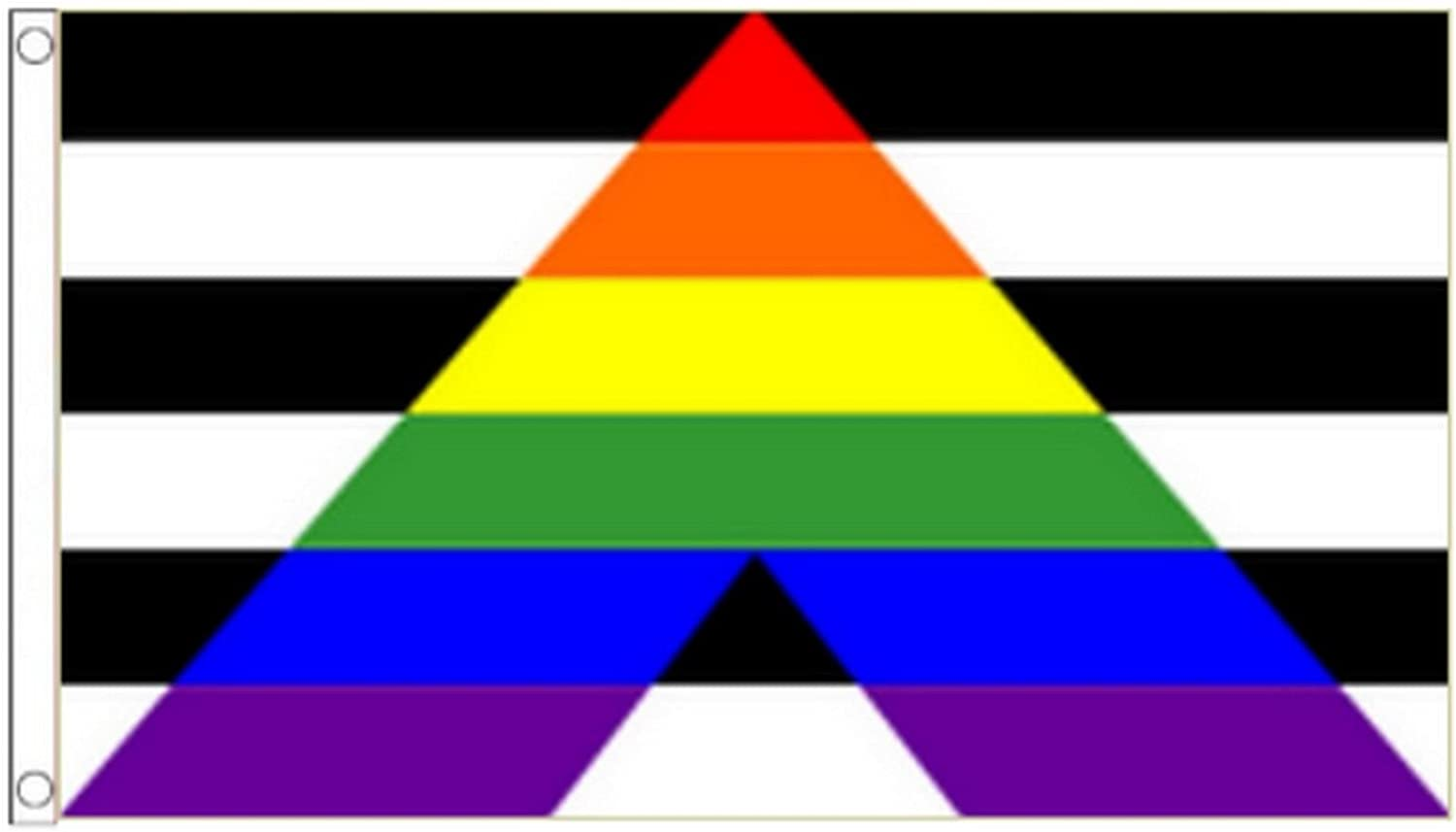 5/' x 3/' Straight Ally Flag Support Gender Equality Allies Rainbow Gay Pride LGBT