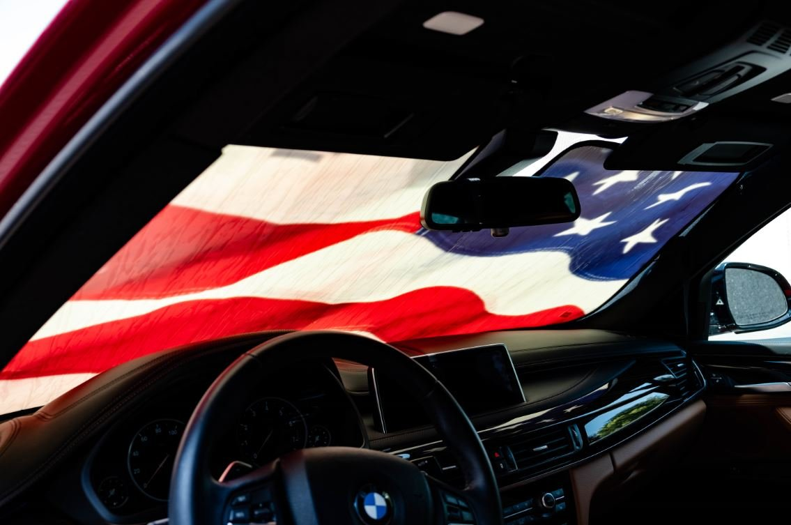 Driver Mods US Flag Custom Car Sun Shade Windshield for Acura 2010-2013 ZDX