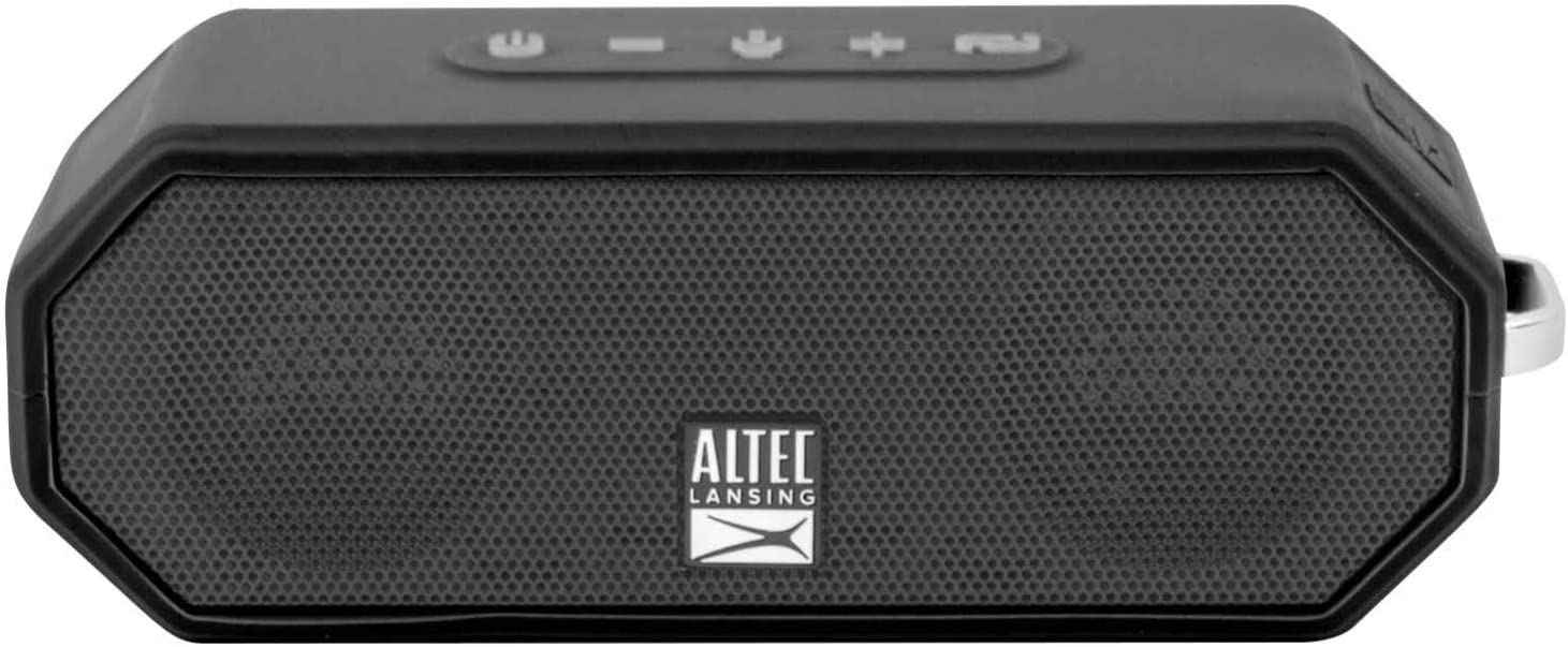 Altec Lansing IMW8 Jacket H8O 8 Rugged Floating Ultra Portable Bluetooth  Waterproof Speaker with up to 8 Hours of Battery Life, 80FT Wireless