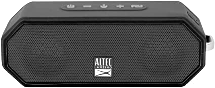 Altec Lansing IMW10 Jacket H10O 10 Rugged Floating Ultra Portable Bluetooth  Waterproof Speaker with up to 10 Hours of Battery Life, 10FT Wireless