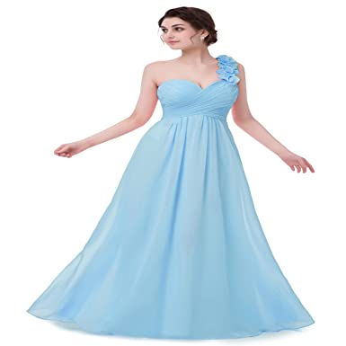 Bridesmaid Dresses for Women Chiffon Long Party Vintage Sexy Evening Prom Modest Petite Cocktail Blue US