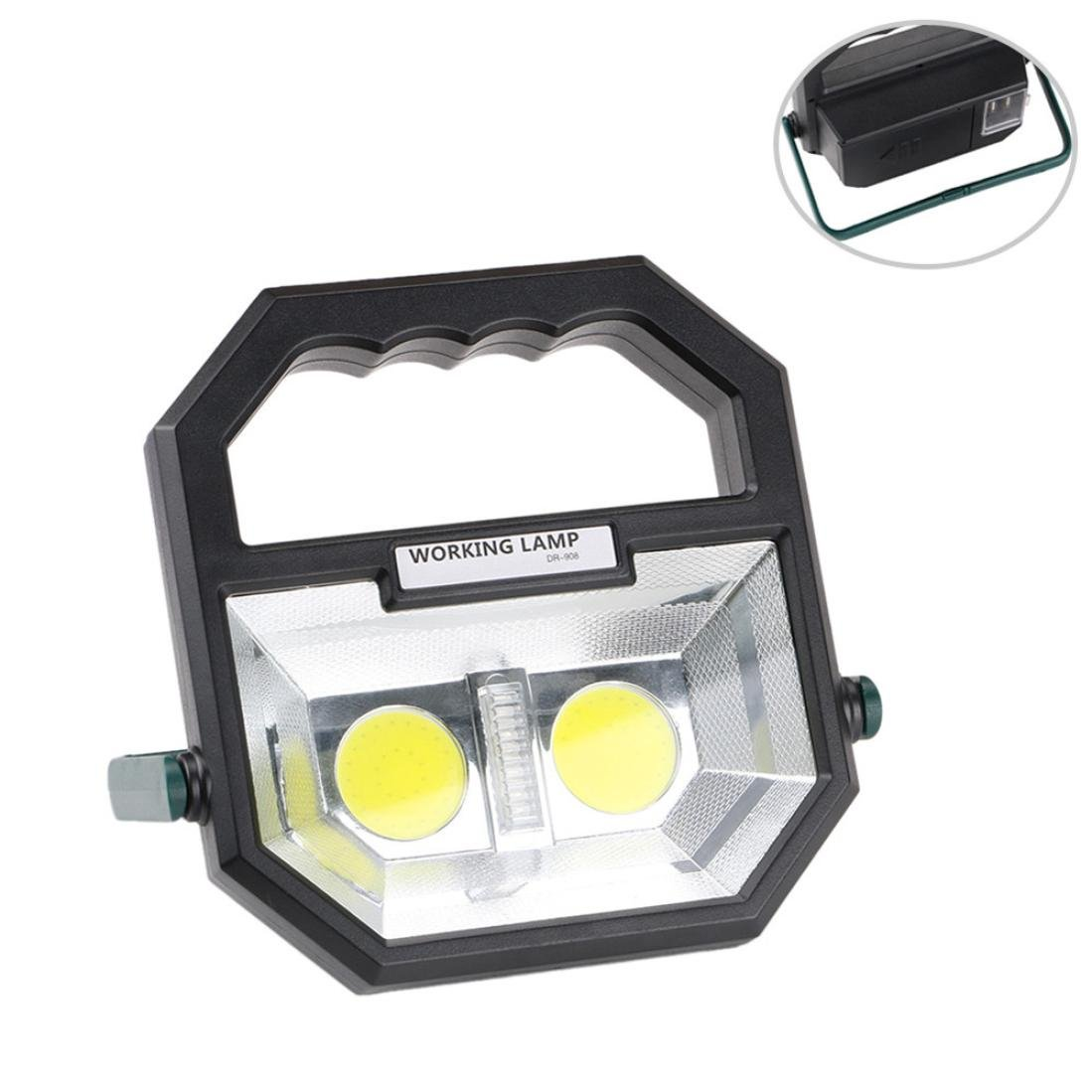 Liping LED Portable SMD Working Light Car Repair Auto Inspection Lamp COB Suitable for Mountain Climbing, Camping, Fishing, Outdoor Sports (A)