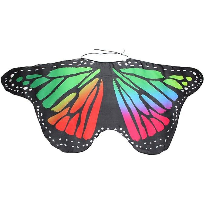 WOZOW Damen Schmetterling Flügel Kostüm Nymphe Pixie Umhang