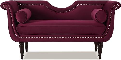 Jennifer Taylor Home Havilland Upholstered Loveseat, Burgundy