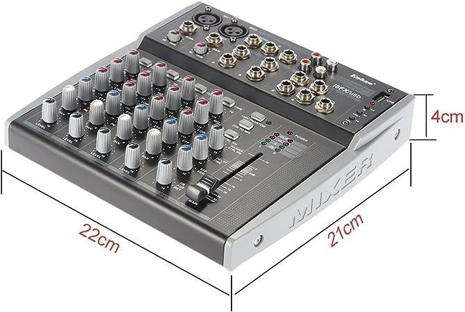 ammoon Profesional 8 Canales Ecualizador de 3 Bandas Audio Music ...