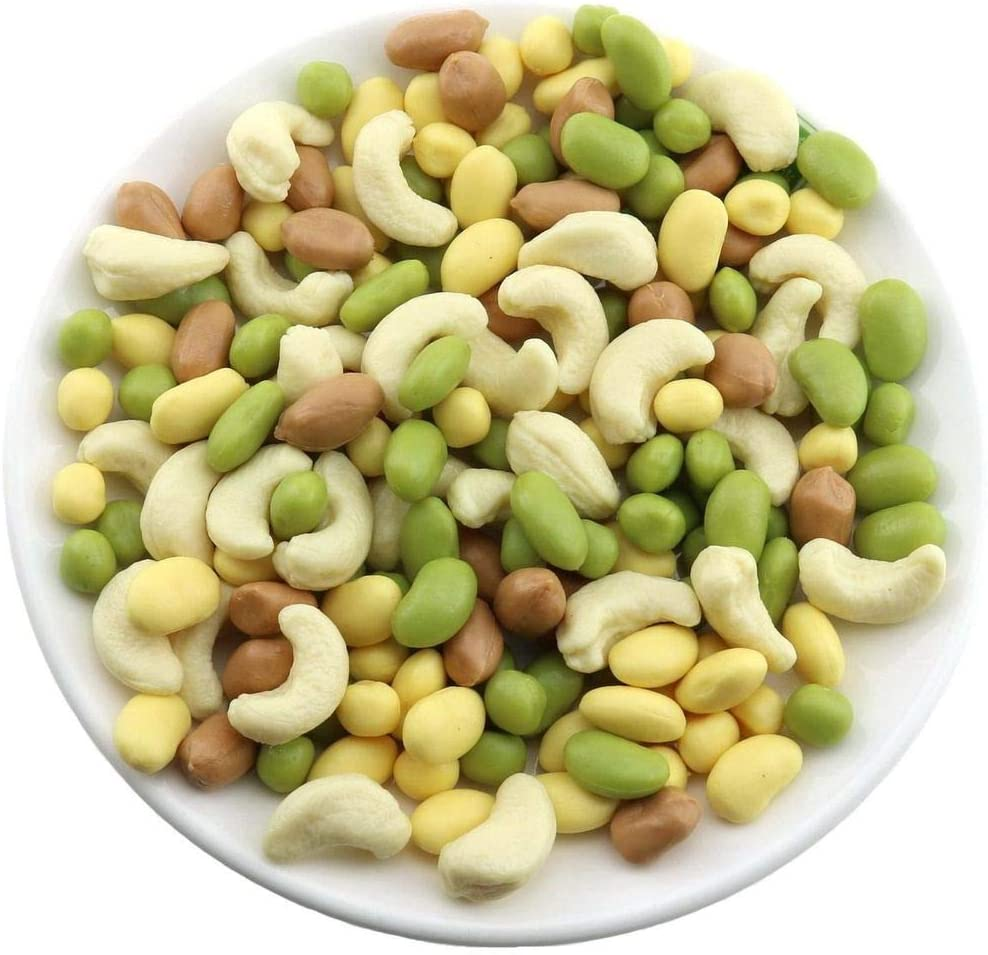 Gresorth 100pcs Mixed Fake Bean Peanut Cashew Decoration Artificial Nuts Vegetable Home Kitchen Play Food Props