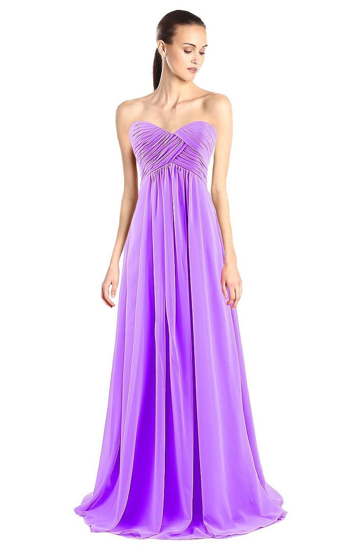 Tngan Bridesmaid Chiffon Prom Dresses Long Evening Gowns at Amazon ...