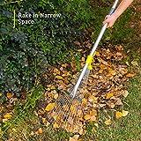 Jardineer 63 inch Adjustable Garden Rake