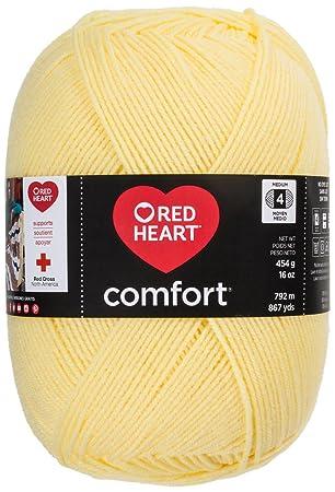 Abrigos de Lana Acrílico Corazón Rojo Comfort Yarn-Butter: Amazon.es: Hogar