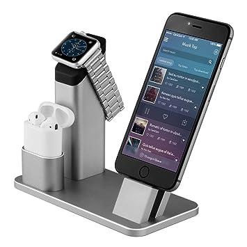 Soporte de Carga Para Apple Watch, Aluminio 4 en 1 para Apple iWatch Charging Stand Cargador Docks Estación para Apple Watch ...