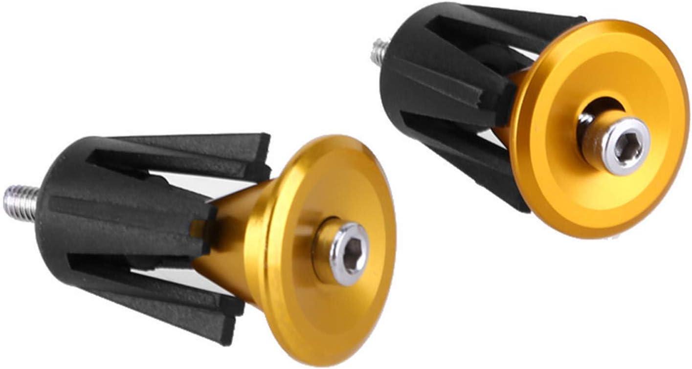 ToGames Bike Handlebar Cap Bicycle Grips Aluminum Alloy Bike Handlebar End Lock-On Plugs Bar Grips Caps Covers Bicycle Parts
