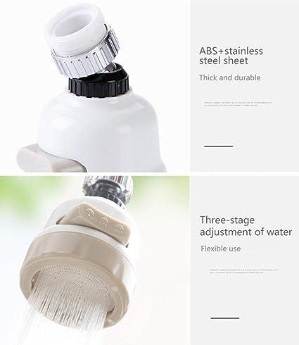 3 modos ajustables Aireador de grifo de grifo giratorio de 360 /° filtro Booster ahorro de agua extensi/ón de grifo de cocina boquilla antisalpicaduras
