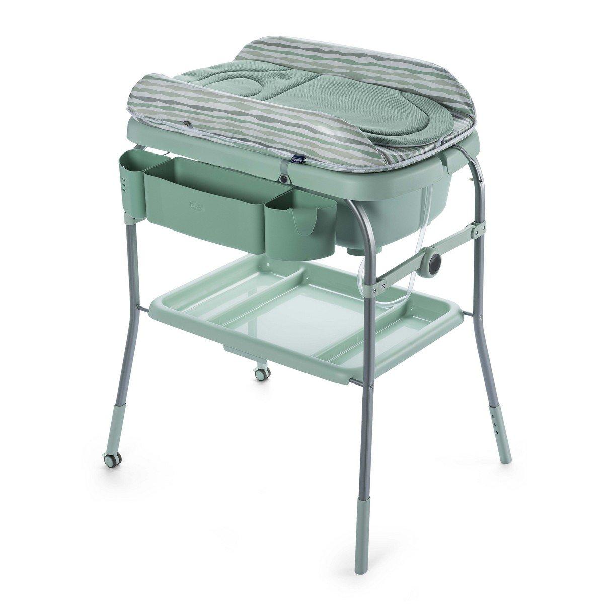 Chicco Cuddle & Bubble - Bañera cambiador compacta 2 en 1, 10 kg, color verde 07079348330000