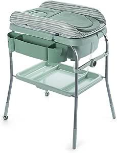 Chicco Cuddle & Bubble - Bañera cambiador compacta 2 en 1, 10 kg, color verde