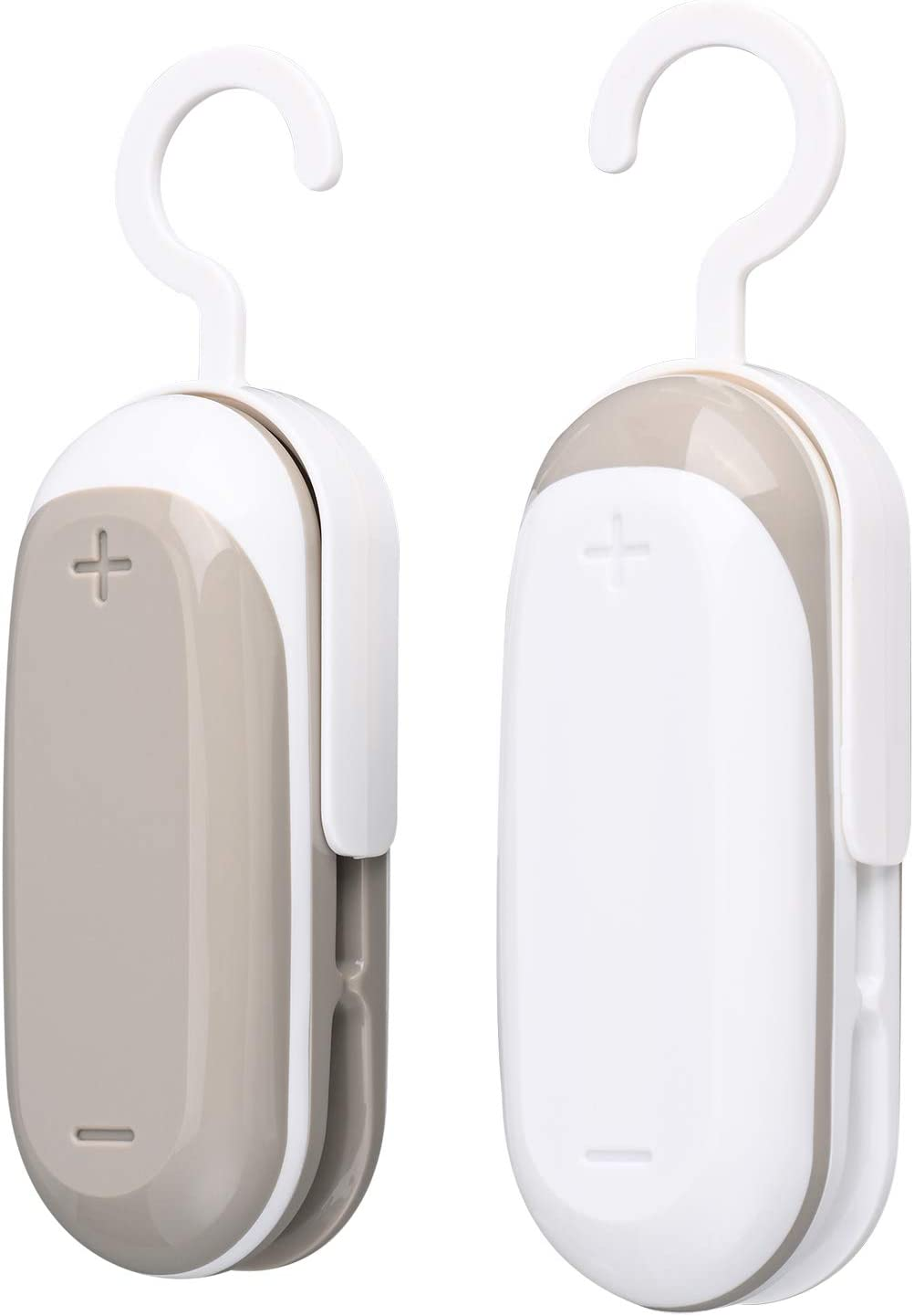 Jsdoin Mini Bag Sealer, 2PACK Portable Heat Vacuum Sealers Plastic Sealer, 2 in 1 Heat Seal and Food Storage Snack Fresh For Plastic Bags Food Storage