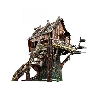 "UMBUM Innovative 3D Puzzle - Magic Kingdom - Hermit's Hut - 7¾"" x 9"" x 9"" 49 pcs - Clever Paper (565): Toys & Games"