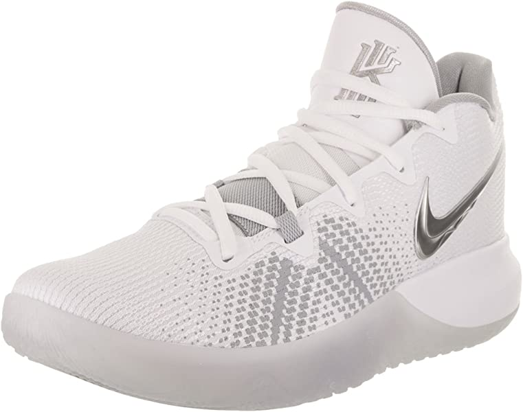 new product f77da 8638d Nike Men s Kyrie Flytrap Basketball Shoes (9, White Silver)