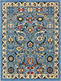 Cheap Unique Loom Espahan Collection Classic Traditional Blue Area Rug (10′ x 13′)