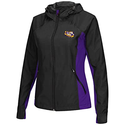 Colosseum Womens LSU Tigers Step Out Windbreaker Jacket