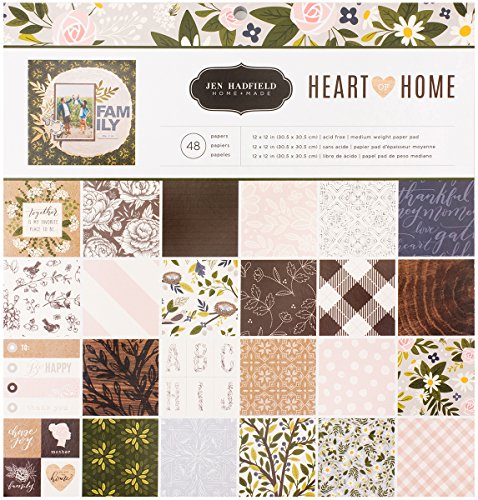 Beach 12x12 Paper (American Crafts Jen Hadfield Heart of Home 48 Sheet 12 x 12 Inch Paper Pad)