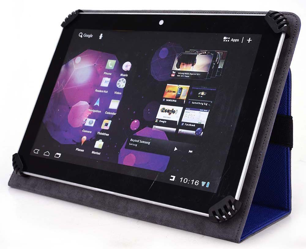 DigiLand DL701Q 7 Inch Tablet Case - UniGrip Edition - ROYAL BLUE - By Cush Cases