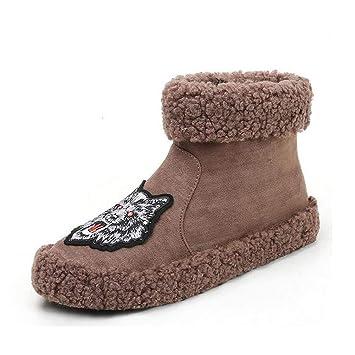 Calzado casual de mujer, tela de algodón de invierno Botas de nieve cálidas y resistentes