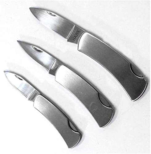 ToolUSA 3 Piece Premium Stainless Steel Pocket Knives KIT-PK9030