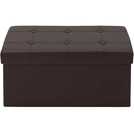 Marvelous Azadx 30 Rectangle Folding Storage Ottoman Bench Faux Leather Foot Rest Seat Footstool Storage Ottoman Used For Coffee Table Seat Stool Foot Unemploymentrelief Wooden Chair Designs For Living Room Unemploymentrelieforg