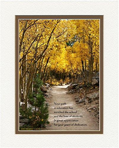 Special Teacher Gift for Retirement or Teacher Appreciation Award from School. Aspen Path Photo