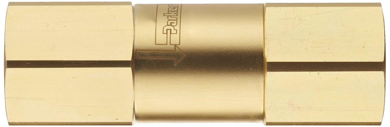 1 psi Cracking Pressure Parker C Series Brass Check Valve 1//8 NPT Female