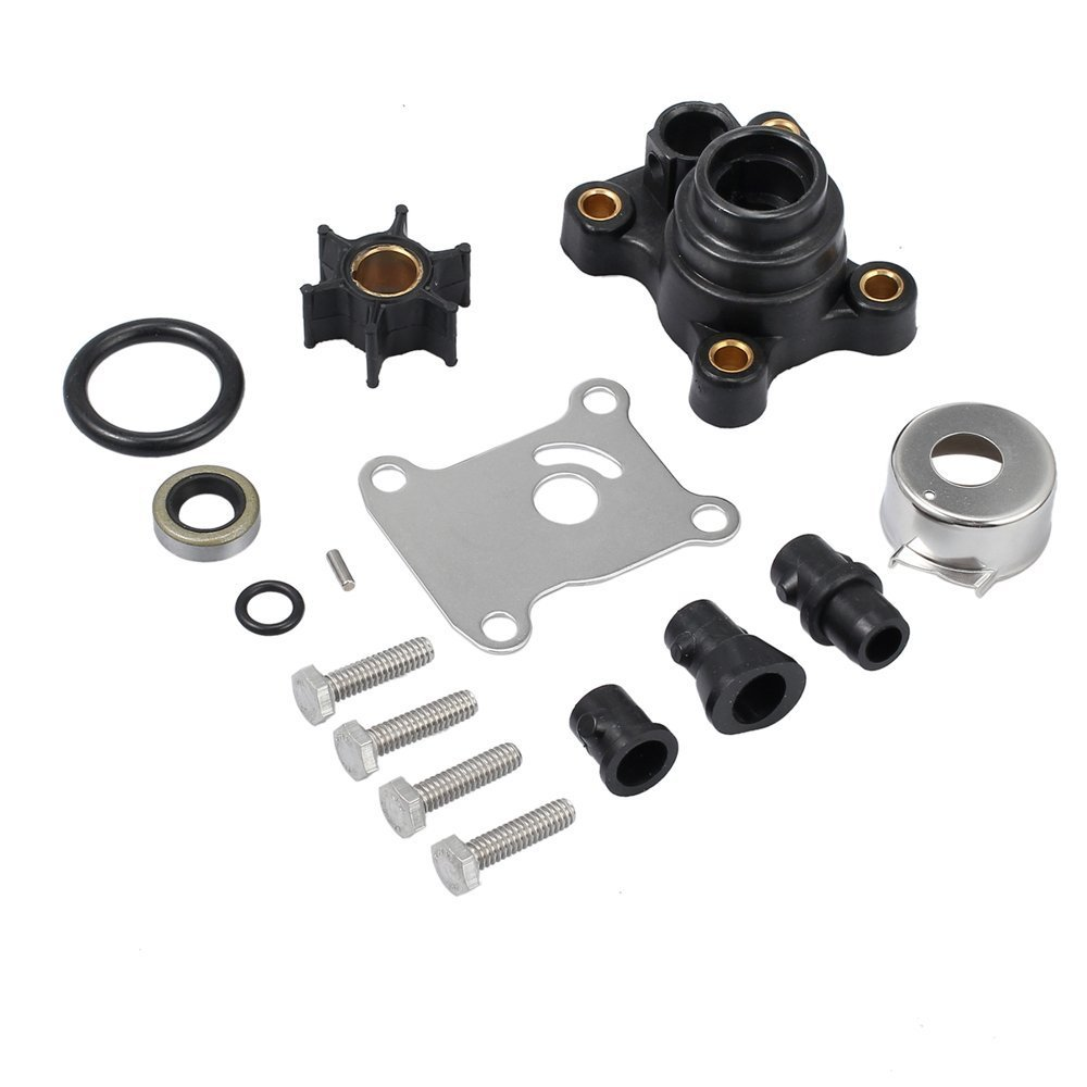 Createshao Outboard Water Pump Kit for Johnson Evinrude 1974-UP 9.9-15 hp. OEM 394711 18-3327 4-3327