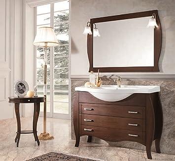 muebles bao clsico de madera nogal con lavabo - Muebles De Bao Clasicos