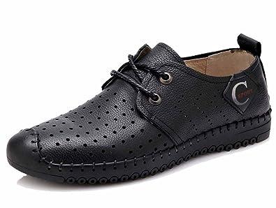 GLSHI Herren Neue Sandalen Leder Freizeitschuhe Handgefertigte Leder Strandschuhe Fashion Wear Outdoor Schuhe