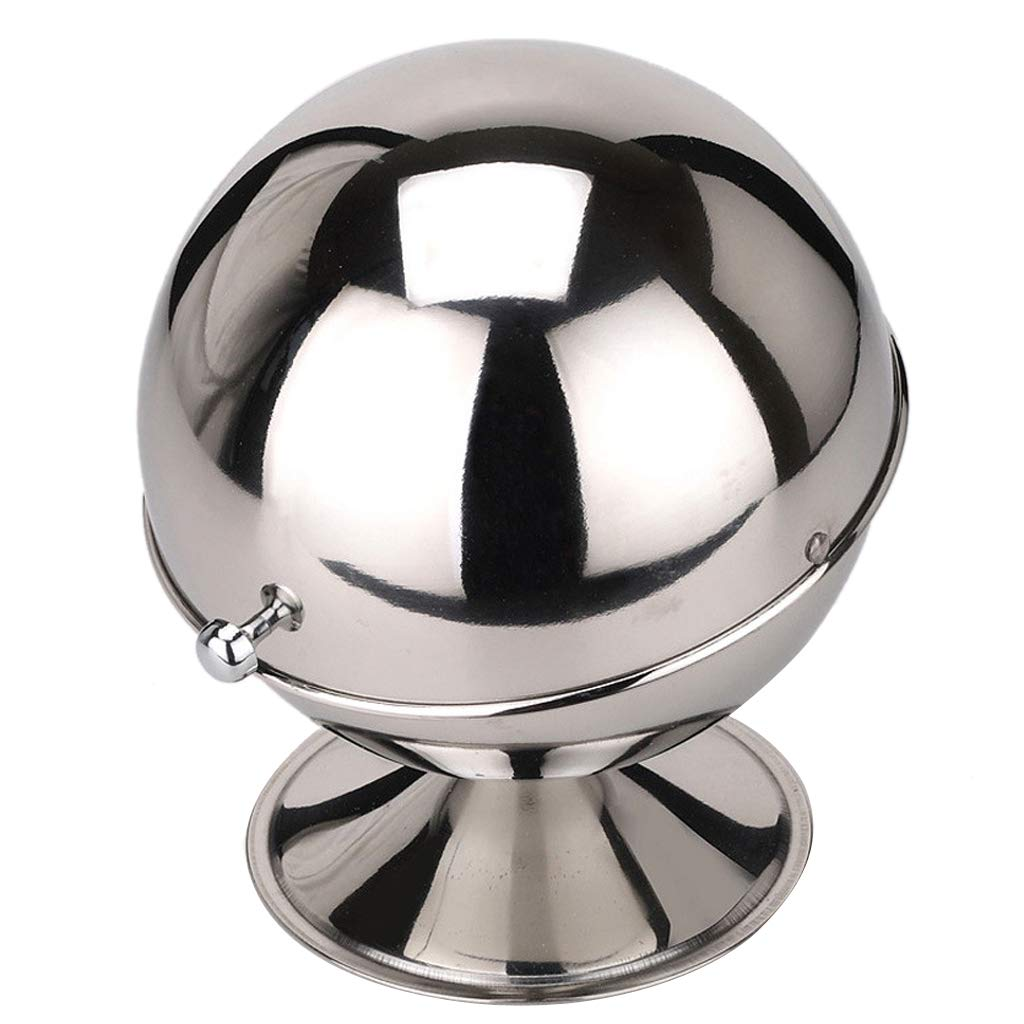 Prettyia Stainless Steel Spice Jar Sphere Condiment Pots Ball Coffee Storage Box, Multi-purpose Air Tight Stay Fresh Tin Pour/Sift Shaker