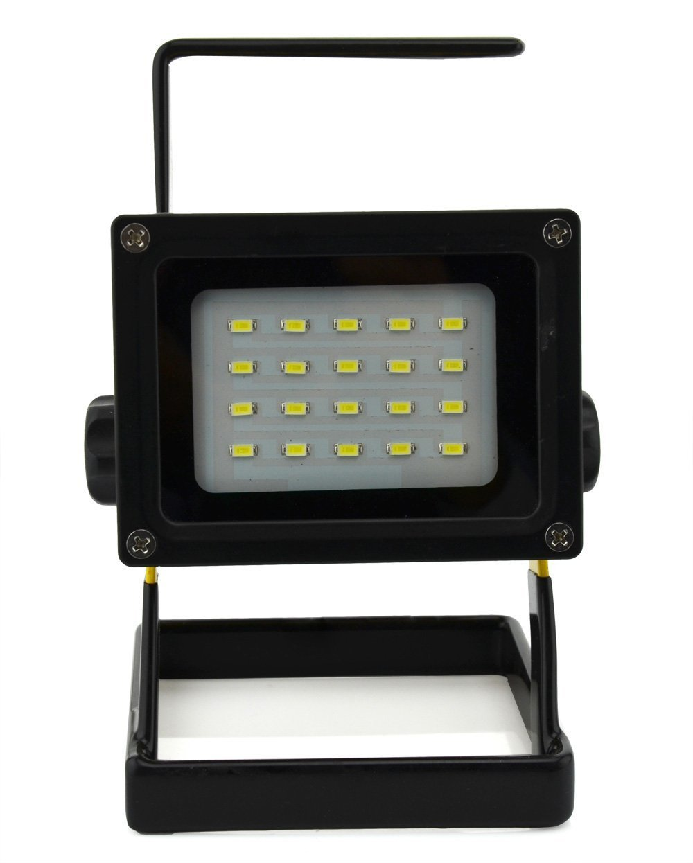 WindFire Durable Waterproof Emergency Light Trouble Light 20 leds 30W 2400LM CREE XM-L LED Flood Search Light - Portable Rechargeable Cordless Work Light w/ Stand 3 X 18650 Battery Powered (Included) IP65 Weather Resistant Flood Spot Working Light Lamp Fl