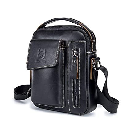 740e7ac5e0d3 Genuine Cowhide Leather Messenger Bag for Men