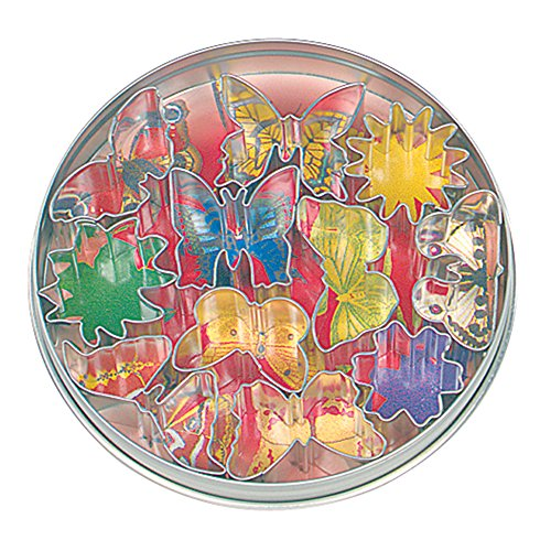 Fox Run Mini Flower and Butterfly 11 Piece Cookie Cutter Set