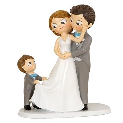 1668d53d76 Mopec Figura Pastel de boda Novios E Hijo