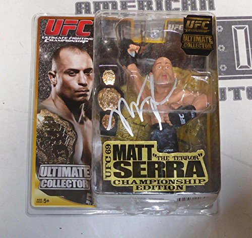 Matt Serra Signed UFC 69 Round 5 Action Figure w/ Belt COA MMA Autograph - PSA/DNA Certified - Autographed UFC Miscellaneous Products