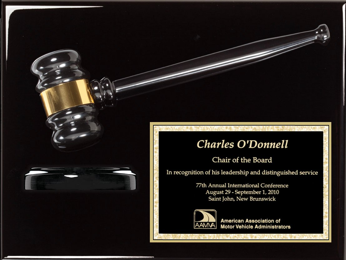 Gavel Plaque, 9'' x 12'' Black Ebony Piano Wood Gavel Plaque with Custom Engraving, Best Prices Lawyer Gift, Judge Gift, Mayor Gift, City Council Gift
