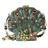 Mary Frances Seashore Beaded Jeweled Crystal Sea Shell Clamshell Handbag Shoulder Bag