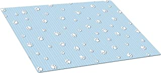 product image for Drymate Puppy Crate or Kennel Mat with Paw Print Design, 15 by 22-Inch, Blue