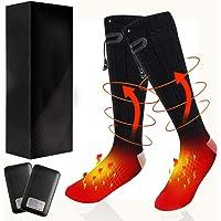 kunkin Winter Warm Socks & 4000 mAh Heated Socks with 3 Heating Settings, Rechargeable Battery Socks Comfortable Thermo…