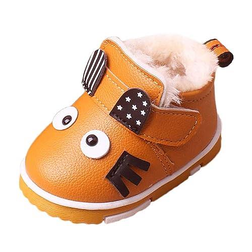 Mitlfuny Invierno Niños Niñas Patucos Zapatos Dibujos Animados Más Terciopelo Calientes Botas de Nieve Antideslizantes Prueba de Agua Botines Zapatillas ...
