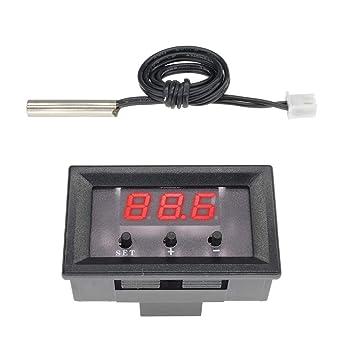Diymore W1209 - Mini termostato digital LED con control de temperatura y temperatura de refrigeración,