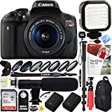 Canon EOS Rebel T6i Digital SLR Camera with EF-S 18-55mm IS STM Lens Kit - 32GB SDHC Dual Battery & Shotgun Mic Pro Video Bundle (EF-S 18-55mm f/3.5-5.6 Pro Video Kit)