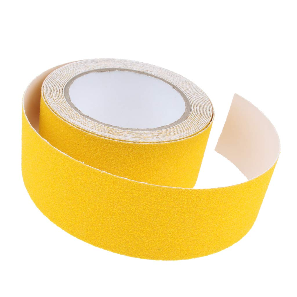 Yellow F Fityle Abrasive Adhesive Tape Anti Slip Safety Tape Non Skid Stair Step Grip Boat as Shown